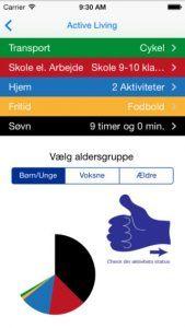 Screenshot fra applikationen ActiveLiving