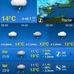 Screenshots fra applikationen WeatherPro