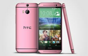 HTC One M8 i pink (Kilde: Pocketnow.com)