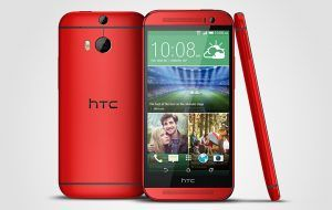 HTC One M8 i rød (Kilde: Pocketnow.com)