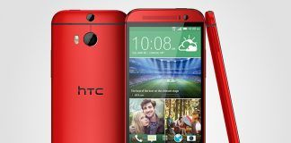 HTC One M8 i rød (Kilde: Pocketnow.com)