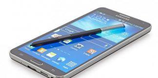 Mockup af Samsung Galaxy Note 4