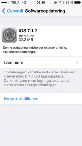 Apple iOS 7.1.2 opdatering
