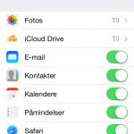 Screenshots fra iOS 8 beta 3 indsendt af Andreas Pedersen