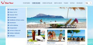 Startour webshop på mobilen