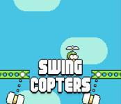 Screenshots fra spillet Swing Copters