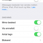 Screenshot iMessage-funktion