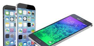 Mockup af iPhone 6 Galaxy Alpha