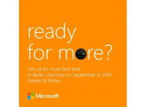 Microsoft teaser for event til IFA 2014