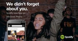 Spotify gratis til Windows Phone