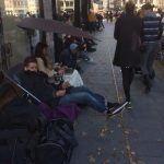 Kø til iPhone 6 foran Telia på Strøget