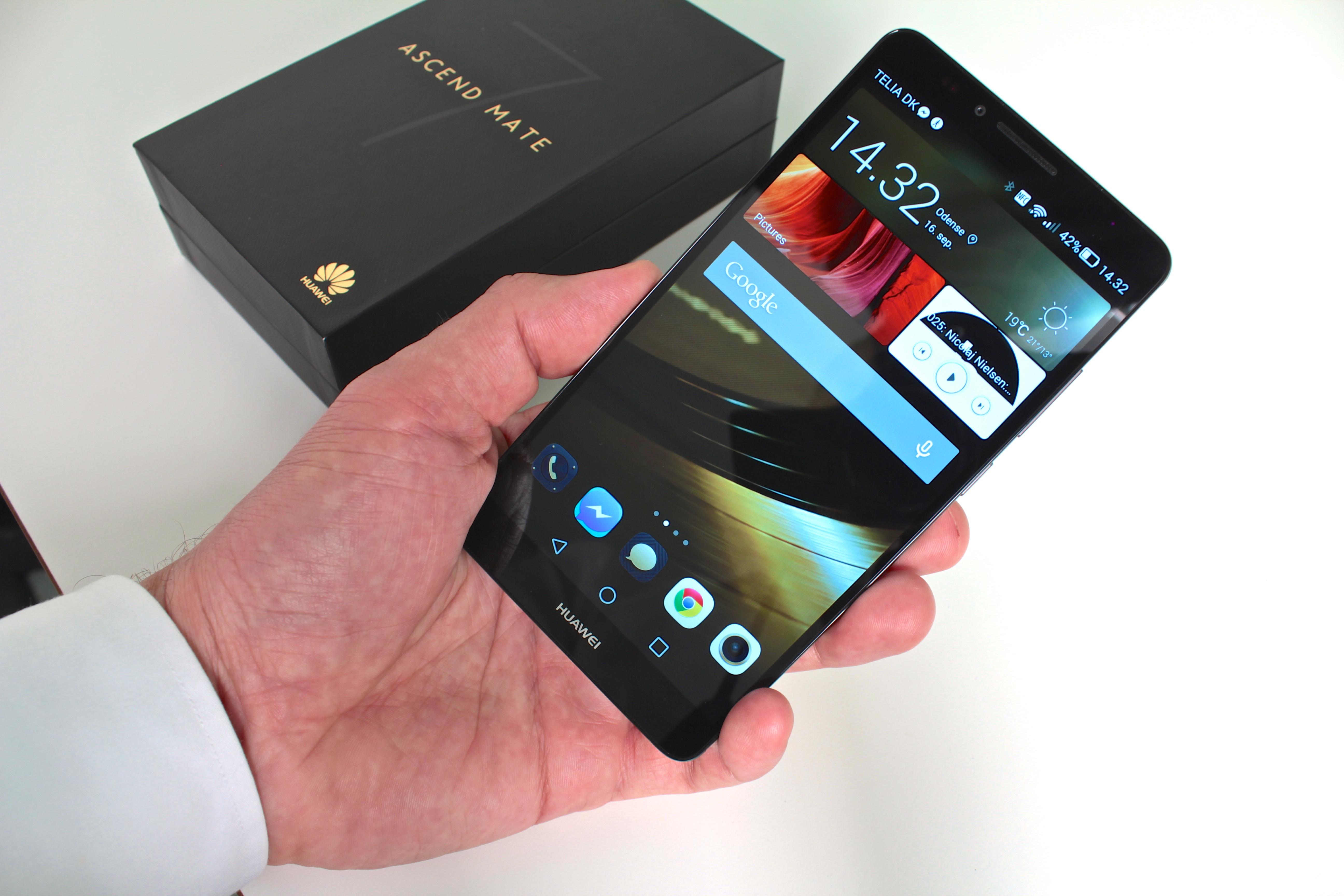 Huawei Ascend Mate 7 – størrelsen overrasker