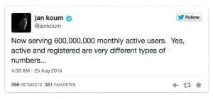 WhatsApp runder 600 millioner aktive brugere