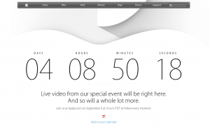 Nedtælling til Apple iPhone 6-event