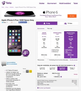 Telia iPhone 6 Plus
