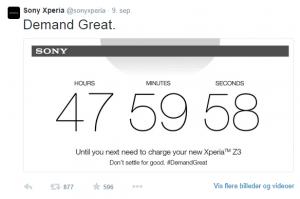 Med hashtagget #DemandGreat, var Sony også med til at stikke til Apple
