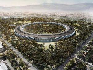 Sådan kommer Apples nye hovedkontor, til at tage sig ud, når det, efter planen, står færdigt i 2016.
