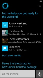 Cortana i funktion på Windows Phone