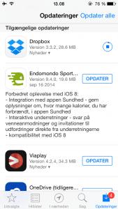 Opdatering til Endomondo - nu klar til iOS 8