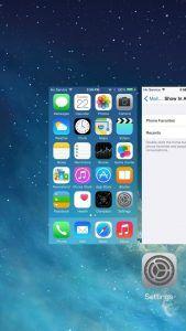 Her er de senest anvendte kontakter slået fra på iOS 8