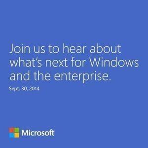 Invitation til Windows 9-event