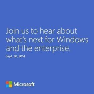 Invitation til Windows 9-event
