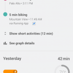 Google Fit applikation
