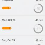 Google Fit applikation