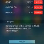 Rediger widgets i notifikations centeret