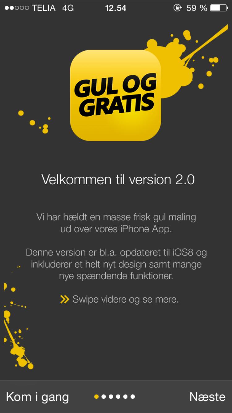 gul og gratis mobil