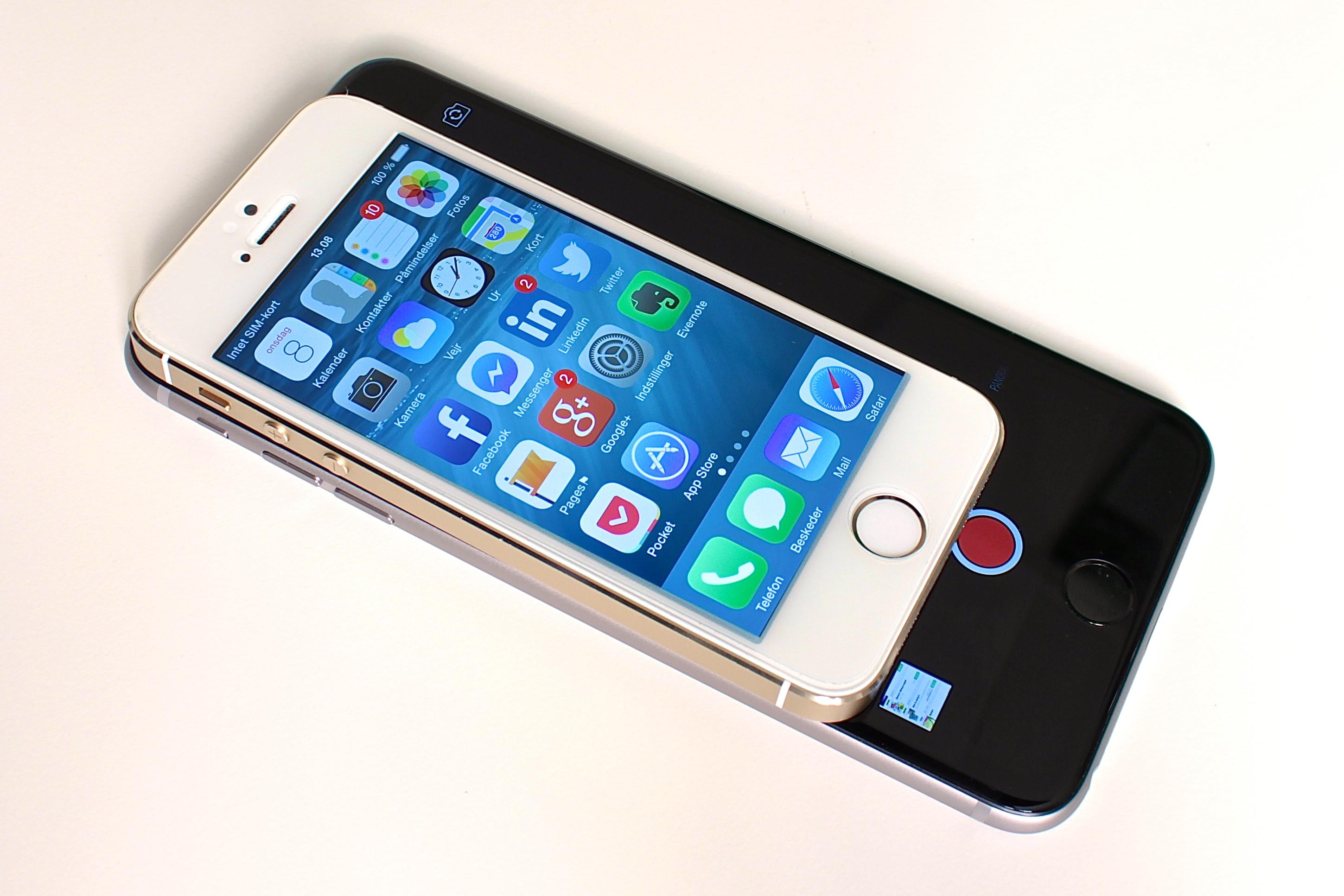 hvor stor er en iphone 6