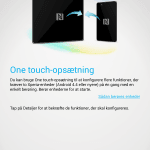 Sony One-touch opsætning