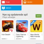 Google Play 5.0 skærmbillede