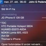 Screenshot WiFi Macbook