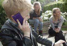 Børn, mobil, microsoft