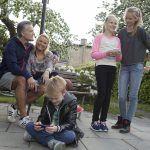 Børn, familie, teenager, mobil, microsoft