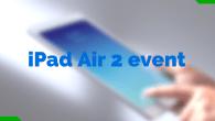 LIVECHAT: Apple afholder iPad Air 2-event torsdag den 16. oktober 2014 klokken 19. Du kan chatte med os, mens eventen finder sted.