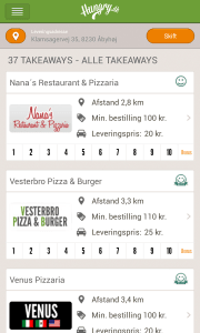 Hungry.dk app til Android