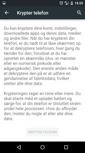 Android sikkerhed - Krypter din Android