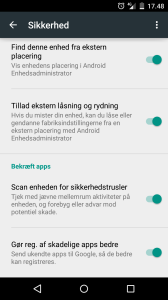 Android sikkerhed - scanner