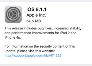 Den nye opdatering, bringer stabilitets forbedringer, samt fejlrettelser med sig.