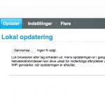 Huawei E5186s router - skærmbilled fra routeren menu (Foto: Meremobil.dk)