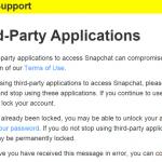 Snapchat advarsel