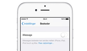 Fjern iMessage fra iPhone