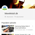 YouTube med Material Design