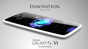 Samsung Galaxy S6 konceptdesign / mockup. Kilde:  http://www.samsungalaxys7.com