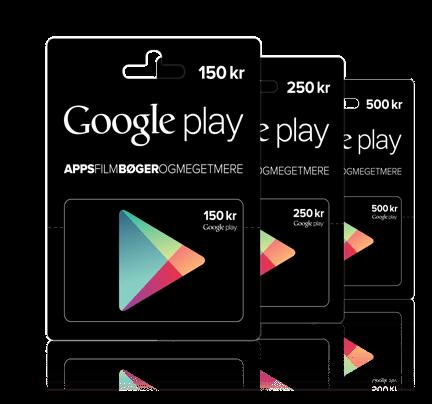 Gavekort Google Play