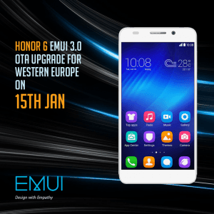 Honor 6 EMUI 3.0 opdateres