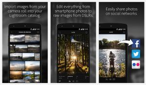 Adobe Lightroom Mobile på Android