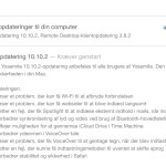 Softwareopdatering OS X 10.10.2
